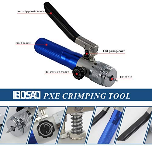 IBOSAD HVAC Hydraulic SWAGING tool kit for copper tubing Expanding 3/8 inch to 1 5/8 inch