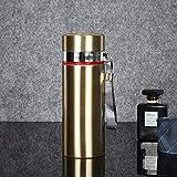 Jusemao Hervidor de agua portátil de acero inoxidable para la oficina de negocios, botella termo de 500 ml 12/oro caliente_500 ml