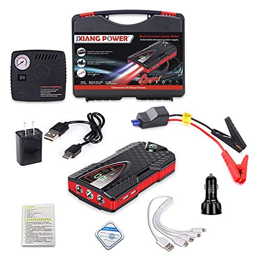 Cargador de Batería Coche y Mantenedor Completamente Automático 12V Automotriz Inteligente para Cargar Motocicletas Más,99800mAh