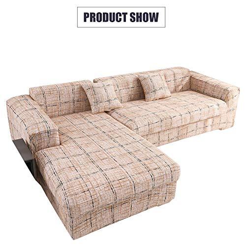 L-vormige bankhoes 2-delige stretch-hoezen voor L-vormige bank Sofa-beschermer voor bankstel