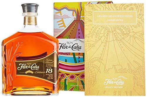 Flor de Cana Centenario Gold Rum 18 Jahre mit Geschenkbox(1 x 0.7 l)