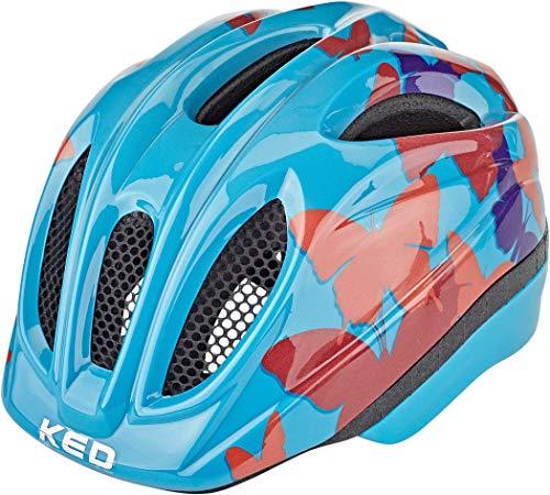KED Meggy II Trend Helm Kinder Butterly/Blue 2020 Fahrradhelm