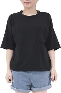 [RONDEL-BLACK(ロンデルブラック)] 背中見せ デザイン Tシャツ 半袖 無地