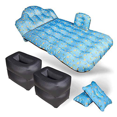 TYZXR Multifunktions-Auto-Luftmatratze, aufblasbares Reisebett mit Sofakissen und Luftpumpe, tragbares Airbag-Rücksitz-Airbagbett (Farbe: B)