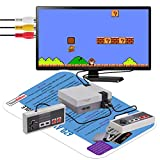 Texas Deluxe AV Retro Classic Video Game Console 620 in 1 Built-in Plug and Play Video Games (Some are Repeated, 500 Unique Games) with 2 Controllers Handheld Games for Kids & Adults