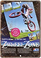 ZWheel Zone Cycle 金属板ブリキ看板警告サイン注意サイン表示パネル情報サイン金属安全サイン