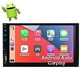 EINCAR Carplay Stereo Android Auto Car Radio con Bluetooth Android Car Stereo 10.0 OS Pantalla táctil de 7 Pulgadas Doble DIN Navegación GPS Radio FM/Am Quad Core Soporte DSP WiFi SWC