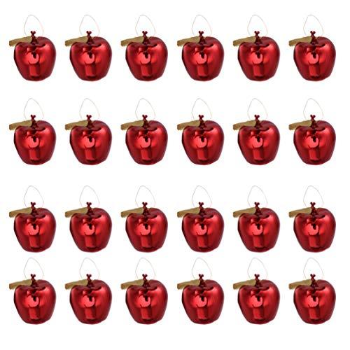 BESPORTBLE 24 Stücke Baumkugeln Apfel Weihnachtsbaumkugeln Christbaumkugeln Baseball Rugby Weihnachtskugeln Christbaumanhänger Weihnachtsbaum Anhänger Weihnachtsdeko Kugeln für Xmas Deko