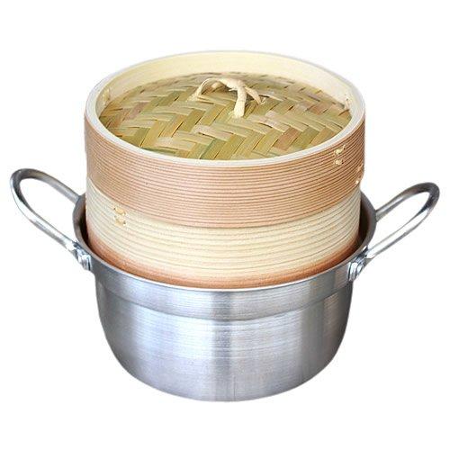 杉蒸篭(セイロ)15cm1段鍋つきセット ヘルシーで美味しい♪温野菜や蒸し鍋、蒸し料理が簡単にできる蒸し器