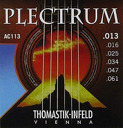 Thomastik Cuerdas para Guitarra Acústica Plectrum Acoustic Series juego AC111 Light .011-.050 sin niquel