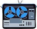 Digittrade LS131-11 DeeJay Designer Schutzhülle für Laptops und Netbooks mit einer Bildschirmdiagonale von 29,5 cm (11,6 Zoll) blau-schwarz
