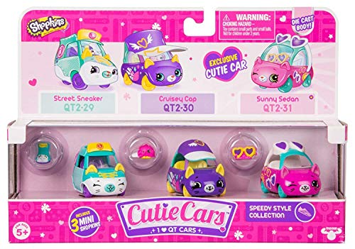 Cutie Cars Shopkins Three Pack - Speedy Style Collection