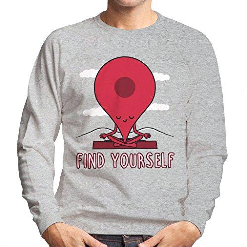 Google Maps Pin Fin Yourself Sweatshirt voor heren