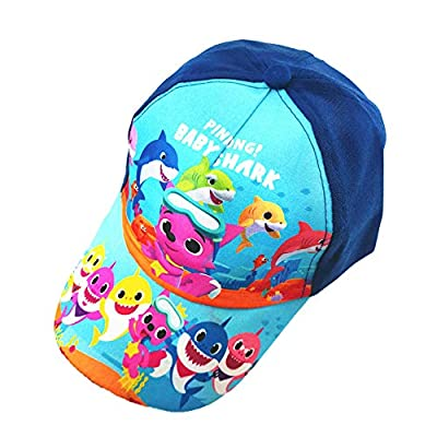 Baby Shark Hat?Toddler Boys Baseball Adjustable Cap, Blue