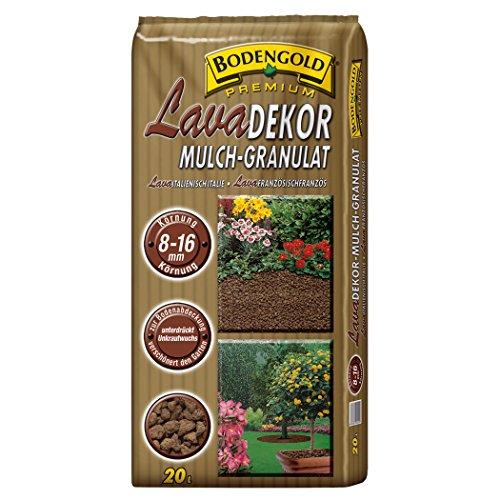 BODENGOLD Premium Lavadekor Mulch-Granulat 8-16 mm 20 Liter NEU aus Vulkan-Lava