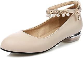 BalaMasa Womens Dress Fringed Nubuck Urethane Pumps Shoes APL10594