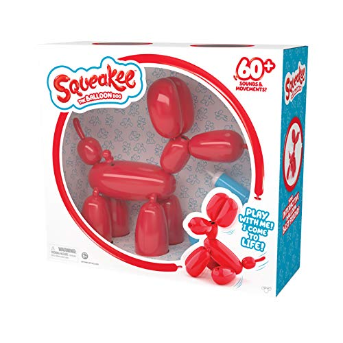 Squeakee The Balloon Dog - Feed Him, Teach Him Tricks, Pop Him, and Watch Him Deflate!