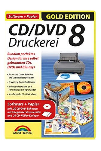 CD/DVD Druckerei 8 mit Papier (inkl. 30 CD/DVD Etiketten)