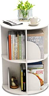 Home Bookshelf Bookcase Shelf Simple And Modern Rotating Bookshelf 360 Degree Bookcase Simple Table Landing Student With M...