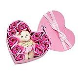 Abset Seife Rose Geschenkbox Lebensechte Herzförmige Rose Geschenkbox Herzform Seife Blumen...