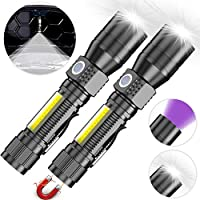 Torches, Rechargeable USB Torches 2 Pack