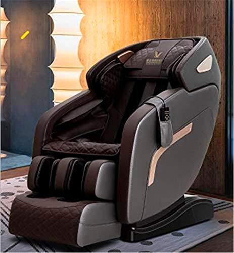 CLOTHES 3D Massagesessel, Massage-Stuhl Electric, Multi-Funktions-Profi Lehnstuhl Air Massiergeräte, Schwerelosigkeit - 4 Techniken Massage für Hause und Büro (Color : Black)
