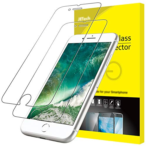 JETech Screen Protector for iPhone 8 Plus and iPhone 7 Plus, 5.5-Inch, Case Friendly, Tempered Glass Film, 2-Pack