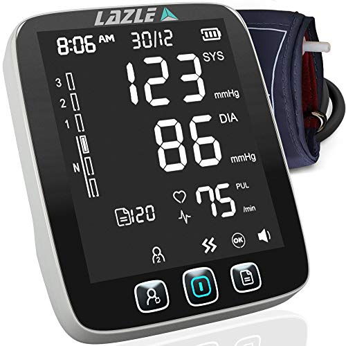 top rated [All New 2020]  LAZLE Blood Pressure Monitor: Automatic Upper Arm and Digital Sphygmomanometer … 2020