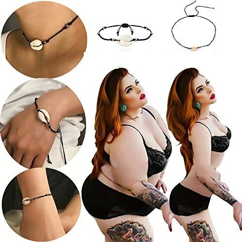 LONG-D Choker Necklace for Women Seashell Strand Bracelets