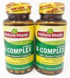 Nature Made Stress B Complex with Zinc Tablets, 75 Count (Pack of 2)