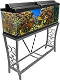 Aquatic Fundamentals Metal Aquarium Stand 55 Gallon, Gray