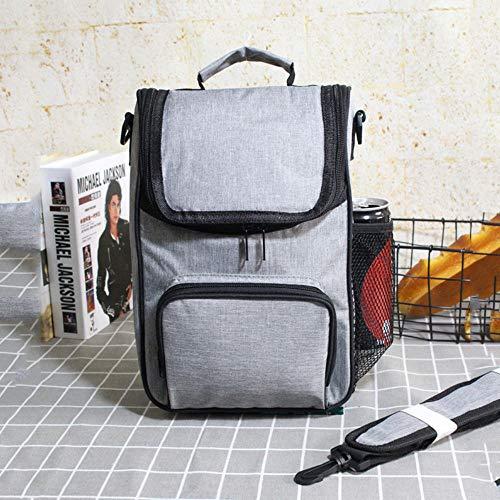 Zwarte reis-picknick-koeltas thermo-lunchtassen schoudertassen, vershouden-Bento-isolatieijscontainer met ritssluiting, opbergvak voor zakaccessoires. Gray Bag