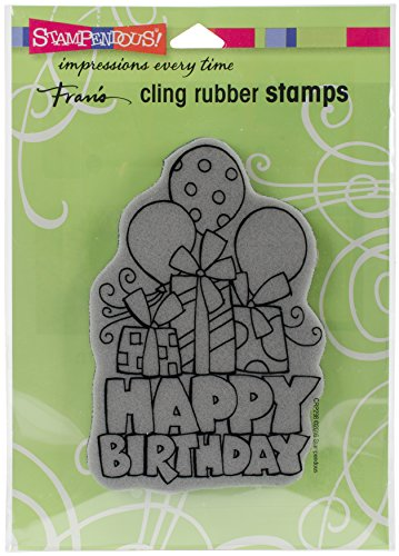 Stampendous Cling Stamp, Chunky Birthday