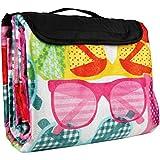 Bestlivings Picknickdecke inkl. Kissen mit Fotodruck - Sonnenbrillen - 100x70 cm (BxL), in vielen Variationen