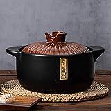 DUDDP Pentola Cucina □ Pentola Casseruola Piatto con coperchio Pentole di cottura in terracotta in terracotta per stufato Pot Pot Conduzione a calore rapida, Pan non bastone - Premier Housewares, Pent