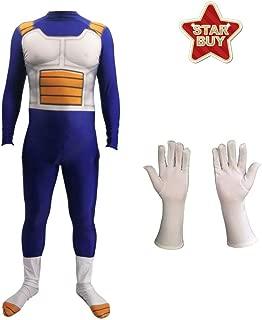 FINDPITAYA D/éguisement Dragon Ball Z Combinaison 6pcs Halloween Noel Son Goku Enfant Cosplay Costume avec Perruque