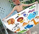 SCVBLJS Toallas De Playa Mono Animal De Dibujos Animados Hombres Y Mujeres Nadar SPA Viajar Yoga Deportes Cubierta De Hamaca Baño Ducha En Casa Toallas Niño