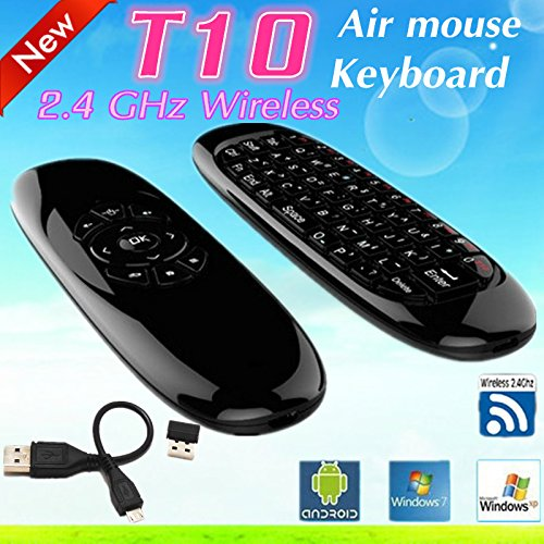 Dragonbest T10 C120 2.4G Wireless Fly Air Mouse 6 Axis Sensor Gyroscope Handheld Keyboard Combo for Smart Tv Box Wireless Remote Control Game Keyboard