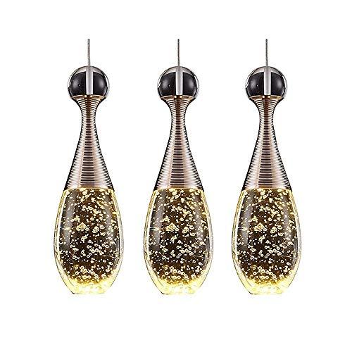 Luz colgante moderna Lámpara de cristal de un solo LED, acero inoxidable Lámpara de araña ajustable de alto brillo, 8,5 × 26 cm Apto para comedor, bar, hotel, cafetería, lámparas de dormitorio de sala