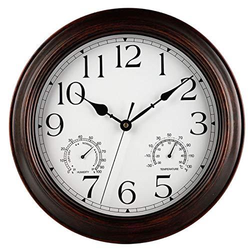 Reloj de pared clásico vintage reloj de pared retro colgante números romanos estilo europeo hogar oficina café arte reloj de pared decoración
