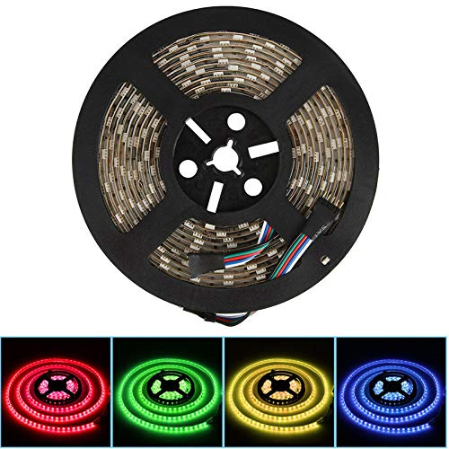 12V RGBWW LED Streifen LED Band LED Strip 5050 SMD RGB+Warmweiss 4 in1 LED Lichtleiste Lichterkette Deko Lichter Treppenlicht, 60LEDs/M 300LED