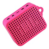 LuckyNV Funda Protectora Impermeable Duradera de Silicona Suave para JBL GO 2 GO2 Funda portavoz de música Bluetooth con mosquetón (Polvo)