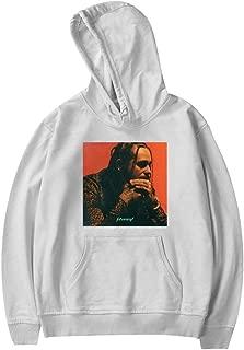 Kid's Post Malone Stoney Album Cover Drawstring Pockets Pullover Hoodie Long Sleeve Sweatshirt