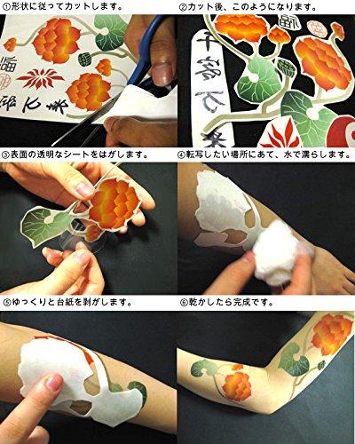 『ONE PIECE ワンピース ナミ コスプレ用タトゥーシール(青)』の2枚目の画像