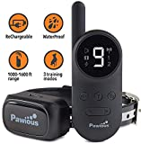 Pawious Dog Training Collar with Remote [Newest] - Rechargeable Dog Shock Collar for Small Medium and Large Dogs | Long Range up to 1600ft, Waterproof, E-Collar