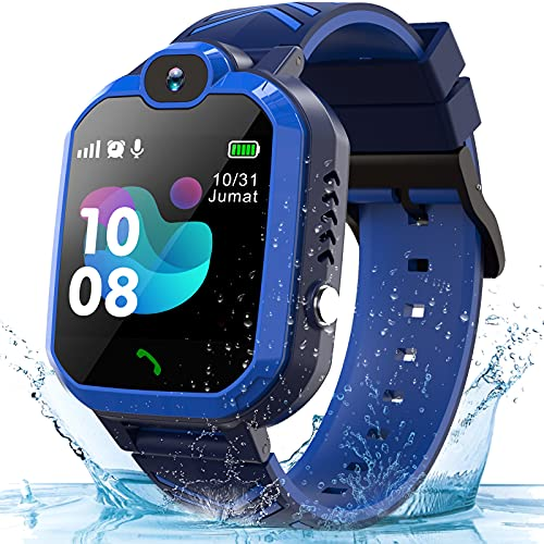 Smart Watch for Kids ,Kids Waterproof Smart Watches Phone with SOS Call Camera Games Recorder Alarm Music Player for 3-12 Boys Christmas Birthday Gifts