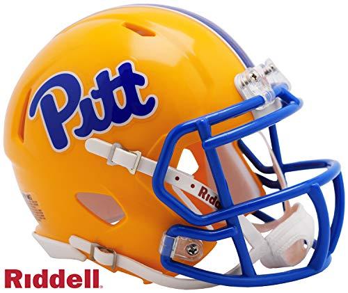 Pitt Pittsburgh Panthers Riddell Speed Mini Football Helmet - 2019 Colors - New in Riddell Box