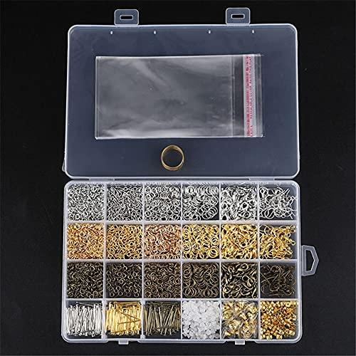 XIGAWAY 3000 piezas plata oro bronce color aleación abierta anillos para DIY joyería fabricación componentes mezclados 1 caja