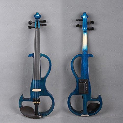 Yinfente Violín eléctrico 4/4 tamaño completo Silent Viol