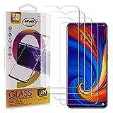 Guran 4 Paquete Cristal Templado Protector de Pantalla para Lenovo Z5S Smartphone 9H Dureza Anti-Ara?azos Alta Definicion Transparente Película